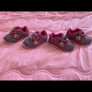 2 pairs of size 5 toddler shoes